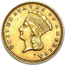 $1 Indian Head Gold Type 3 XF (Random Year) - SKU #4028