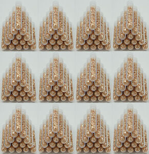100 Large 5ml Vials, Filled Full of BIG Gold Leaf Flakes LOWEST PRICE ON THE WEB