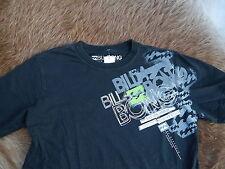 BILLA Bong Kindershirt T-Shirt Longsleeve schwarz mit blauem Aufdruck  Gr.164