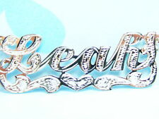 LEAH OR ANY NAME  SILVER 925 NAME PLATE CHAIN NECKLACE