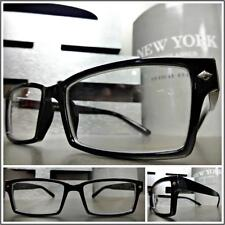 Men's CLASSIC VINTAGE 60s RETRO Style Clear Lens EYE GLASSES Black Fashion Frame