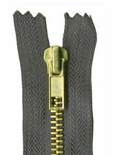 23cm Grey Jeans Zip