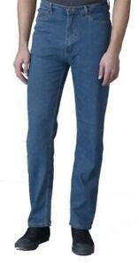 "Rockford Comfort Fit Stretch Jeans (Carlos) in Stonewash,Waist 30-60"", L30/32/34"