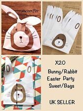 X20 Easter Sweets Treat Bag  Presentation Bags-Bunny Long Ears Rabbit Party Bags