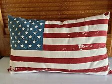 Primitive Americana Patriotic American Flag Pillow Rustic Farmhouse