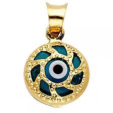 14K Yellow Gold Evil Eye Pendant GJPT1716