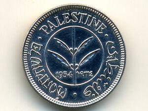 Palestine:KM-6,50 Mils,1934 * Silver * Rare Date * UNC *