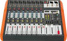 Ibiza MX802 Compact 8 Canal Mixer USB et Bluetooth Evénement Etape Musique Dj