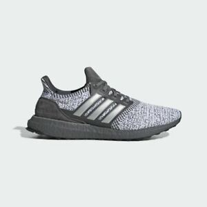 Adidas Ultra Boost DNA Mens Running Shoes Grey/Silver Metallic/White FW4898 NEW!