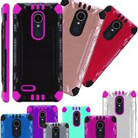 For AT&T LG Xpression Plus 2018 Hybrid Case Phone Cover Brushed Combat