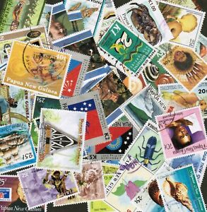 PAPUA NEW GUINEA collection 250 all DIFFERENT used - L@@K!