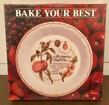 New Rare Vintage 1985 Beautiful Royal China All American Peach Pie Baker Plate