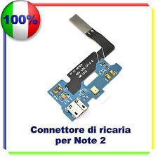 FLEX FLAT CAVO CONNETTORE ALIMENTAZIONE RICARICA MICROFONO SAMSUNG NOTE 2 N7100