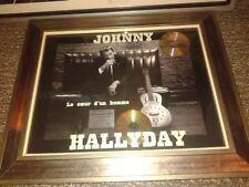 JOHNNY HALLYDAY DOUBLE DISQUE DE PLATINE No 61 LE COEUR D UN HOMME +CERTIFICAT