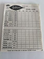 Vintage Yahtzee Replacement Score Pad 15 Sheets 1956, 1972