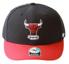 47 Brand Chicago Bulls 2 Tone Adjustable Hat + GT Sweat Wristband- Black Red