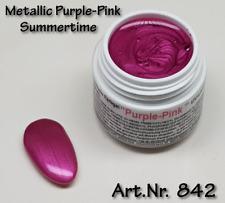 5 ml  UV Exclusiv Summertime Farbgel Metallic Purple-Pink Gel Nr.842