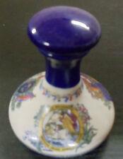 Vintage British Navy Pusser's Rum Porcelain Decanter Bottle w/Porcelain Stopper
