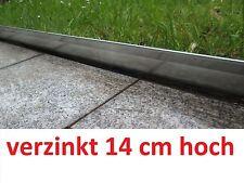30 m Rasenkante Metall 14 cm hoch verzinkt Beetumrandung Beeteinfassung Mähkante