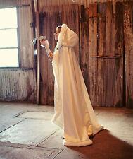 Hooded Bridal Cape Faux Fur Coat Women Winter Jacket Long Wedding Cloak