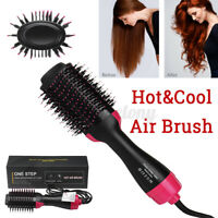 4 in 1 Electric Hair Straightener Dryer Blow Hot Air Brush Curler Comb Styler US
