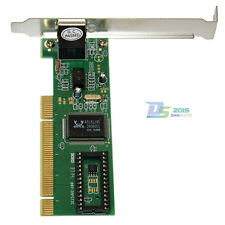 Best 10/100 Mbps RJ45 Ethernet NIC LAN Network PCI Card Adapter for Computer PC