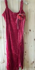 "Gorgeous Sexy Velvet Red Dress By Day Meets Night Chest 38"" Approx Size 14"