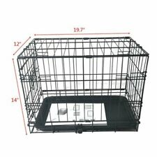 "20"" Pet Kennel Cat Rabbit Folding Steel Crate Animal Playpen Wire Metal Cage..."