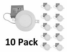 QPLUS 4 Inch Slim Dimmable LED Recessed Pot Light (10 Pack, 3000K Warm White)