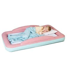 Toddler Travel Bed - Portable Air Bed with Safety Bumpers for Kids & Toddlers