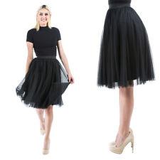 Women Fashion Pleated Long Midi Skirt Elastic High Waist Dress Tutu Ballet Dress
