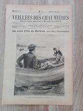 Journal illustré 1909  - Veillées des Chaumières - 24 Juillet - La Jolie Fille..