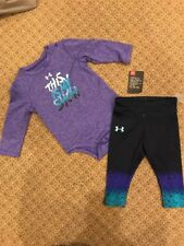 Under Armour Baby Girls 2 Pc Set: Bodysuit & Leggings Sz 3/6 Months  NWT