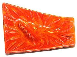 California Original Cal Orig USA 810 Orange Serving Nut Tray Plate Ashtray