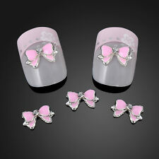10PCS 3D Alloy Rhinestone Bow Tie Butterfly Nail Art Decoration Stickers DIY New