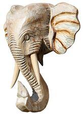 Schöne Elefant Holz Maske Kopf Afrika Elephant Handarbeit Bali Maske48.30hell
