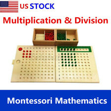 Educational Montessori Mathematics Math Bead Board Toy Multiplication Division