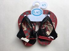 f4bcbc977ac0 New ListingToddler Boys THE CHILDREN S PLACE Flip Flops Sz 4 5 Red   Black  Elastic Back NWT