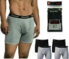 6 Pack Mens Boxer Briefs 100% Cotton Black Gray Underwear Underpants Lot S-3XL