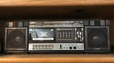 JVC PC-37 Portable Cassette/Radio 2 Way 4 Speakers System Stereo Boombox