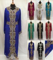 Elegant Kaftan Farasha Jalabiya Khaleeji Maxi Dress Jilbab Burka Abaya S - XXL