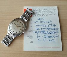 Gent's Vintage 1968 Stainless Steel Omega De Ville Automatic & Guarantee Booklet