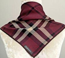 "NWT Handkerchief Neckscarf Violet Nova Check Signature Cotton19.5"""