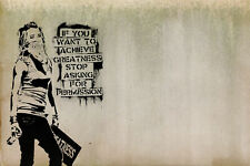 BANKSY WALL STICKERS PHOTO PAPER a5