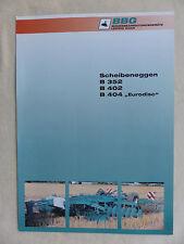BBG Scheibeneggen B 352 - 404 Eurodisc - Prospekt Brochure  (0620-3