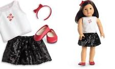 💕American Girl Doll Sequined Skirt Outfit NEW Limited Edition Winter Gift Box❄️