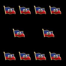 Brooch The Office Celebrity Jewelry Gift 10Pcs Haiti Flag Lapel Pin Enamel Badge