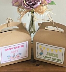 Personalised Activity Gift Box Easter Egg Hunt Treats (Two Peter Rabbit Designs)