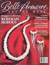 Vintage Belle Armoire: Art to Wear. Rebekah Hodous, Faux Metals,  Autumn 2003