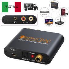 Digitale adattatore analogico Audio Convertitore 3.5mm RCA cavo coassiale ottico